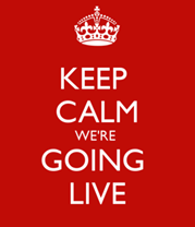 Keep Calm We're Going Live Image