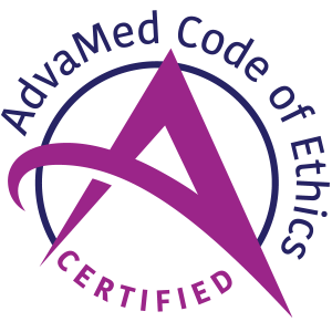 AdvaMed Code of Ethics Certified Logo